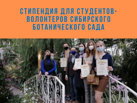 Стипендия для студентов-волонтеров Сибирского ботанического сада